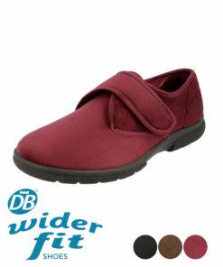 DB wider fit Daniel House shoe in Burgundy